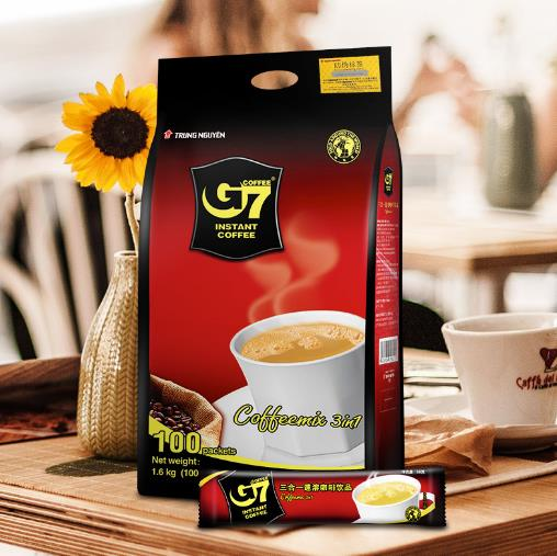 G7咖啡越南原装进口 经典原味三合一速溶咖啡粉提神100条1600g正品